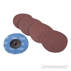 Zestaw dysków sciernych szybkiej wymiany 75 mm, 5 szt. - P 120