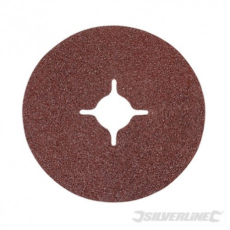 Fibre Discs 115 x 22.23mm 10pk - 115mm 60 Grit
