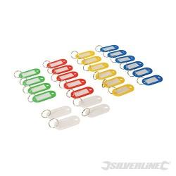 Coloured Small Key Tags 25pk - 25pk