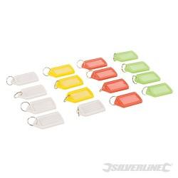 Coloured Large Key Tags 16pk - 16pk