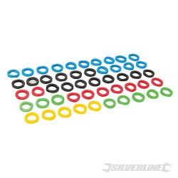 Coloured Plastic Key Covers 50pk - 50pk