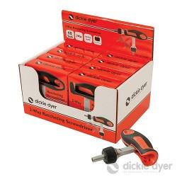 Ratcheting Screwdriver Display Box 8pk - 2-Way