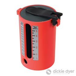 Flow Measure Cup - 2.5-22Ltr / 1/2-5 Gallons - 50.124RB Red
