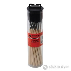 Flux Brushes 25pk - Wooden Handle - 11.055