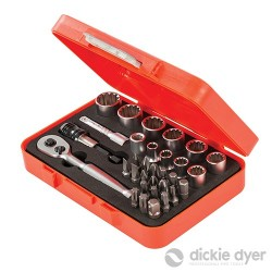 "Spline Socket & Bit Set 1/4"" Drive 32pce - 32pce"