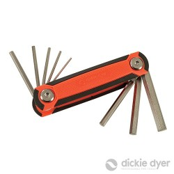 Folding Hex Wrench Set 8pce - 1.5-8mm Standard - 18.335