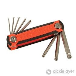 Folding Hex Wrench Set 8pce - 1.5-8mm Ball End - 18.336