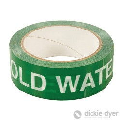 'COLD WATER' Identification Tape - 38mm x 33m - 90.717