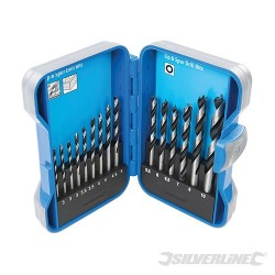 Lip & Spur Drill Bit Set - 15 Pce 3-10mm