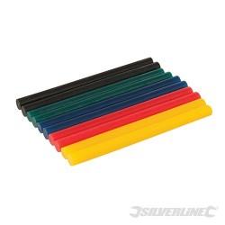 Coloured Mini Glue Sticks 7.2 x 100mm - 10pk