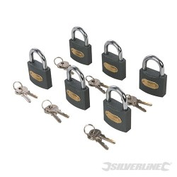Iron Padlock Keyed Alike 6pk - 50mm