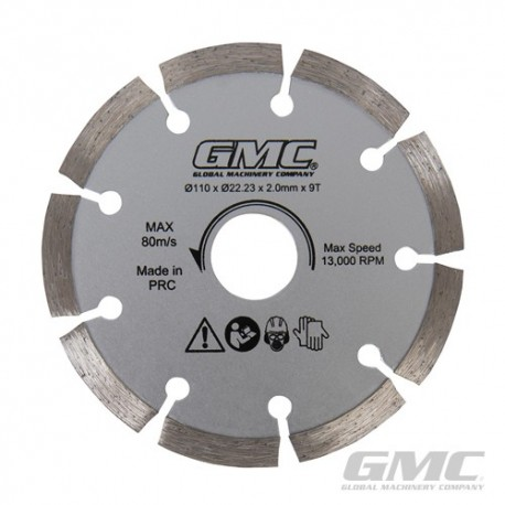 Diamond Saw Blade GTS1500 - Diamond Saw Blade 110 x 22.23 x 2mm x 9T
