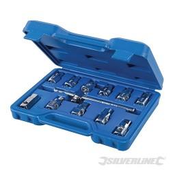 "Universal Drain Plug Key Set 12pce - 3/8"" / 8 - 17mm"