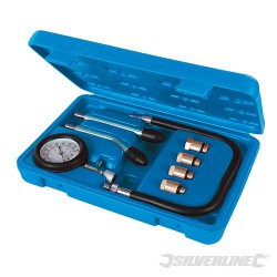 Petrol Engine Compression Test Kit 8pce - 0 - 300psi