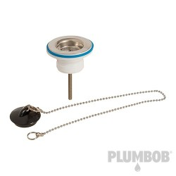 Strainer Waste with Plug & Chain - 1-1/4""