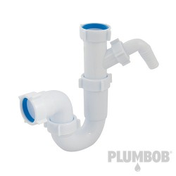 Telescopic P-Trap with Washing Machine Outlet - 40mm