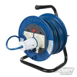 Industrial Cable Reel 16A 230V - 2-Gang 25m