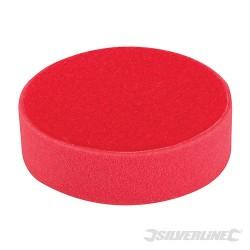 Gabka polerska z mocowaniem na rzep - 150 mm, bardzo miekka czerwona
