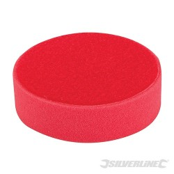 Hook & Loop Foam Polishing Head - 150mm Ultra-Soft Red