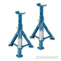 Folding Axle Stand Set 2pce - 2 Tonne