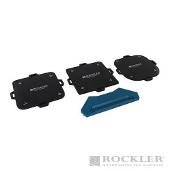 Corner Radius Routing Templates 4pce - 3 - 25mm (1/8 - 1) Radii