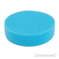 Hook & Loop Foam Polishing Head - 150mm Medium Blue