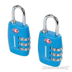 TSA Combination Luggage Padlocks 2pk - 3-Digit