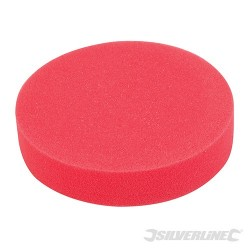 Hook & Loop Polishing Foam Head Medium - 180mm Ultra-Soft Red