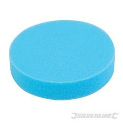 Sredniej miekkosci gabka polerska z mocowaniem na rzep - 180 srednio miekka, niebieska