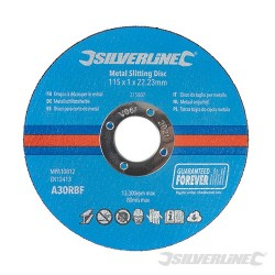Metal Slitting Discs 10pk - 115 x 1 x 22.23mm