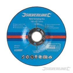 Metal Grinding Discs 10pk - 100 x 6 x 16mm