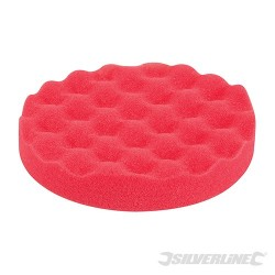 Hook & Loop Contoured Foam Polishing Head - 150mm Ultra-Soft Red