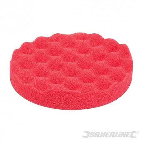 Hook & Loop Contoured Foam Polishing Head - 150mm Ultra-Soft Red