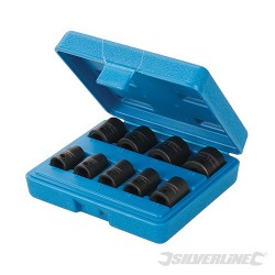 "Impact Socket Set 3/8"" Drive 6pt Metric 9pce - 8 - 19mm"