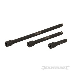 Impact Extension Bar Set 3pce - 75, 150 & 250mm