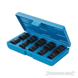 "Impact Socket Set 1/2"" Drive 6pt Metric 10pce - 10 - 22mm"