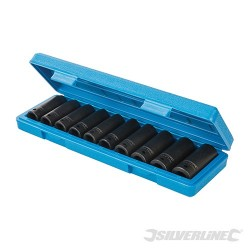 "Deep Impact Socket Set 1/2"" Drive 6pt Metric 10pce - 10 - 22mm"