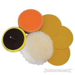 Sanding & Polishing Kit 6pce - 125mm