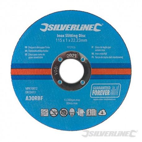 Inox Slitting Discs 10pk - 115 x 1 x 22.23mm