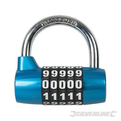 Zinc Alloy 5-Digit Combination Padlock - 65mm