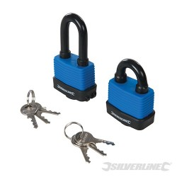 Short & Long Weather-Resistant Padlocks 2pk - 2pk