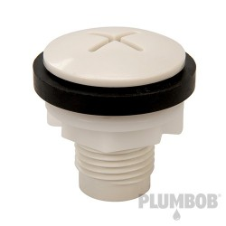 White Blanking-Off Plug - 21-30mm