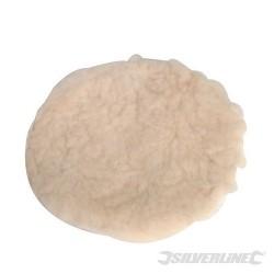 Tarcza polerska ze skóry owczej z mocowaniem na rzep - 125 mm