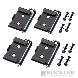 Quick-Release Workbench Caster Plates 4pk - 70 x 95mm (2-3/4 x 3-3/4'')
