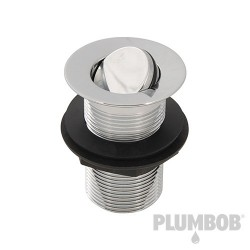 """Rotating Brass Basin Waste Unslotted - 1-1/4"""" (32mm)"""