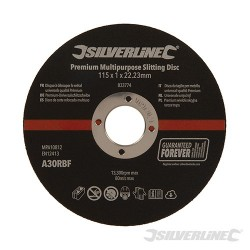 Premium Multipurpose Slitting Disc 10pk - 115 x 1 x 22.23mm