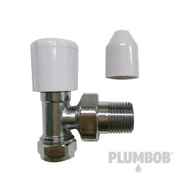 Chrome-Plated Angled Radiator Valve - 15mm