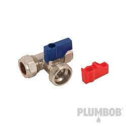 "Washing Machine Tap Tee - 15mm x 3/4"" Tee"