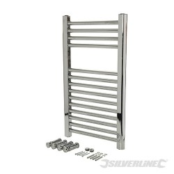Chrome Flat Towel Radiator - 700 x 400mm