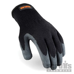 Utility Latex Coated Gloves Black - L